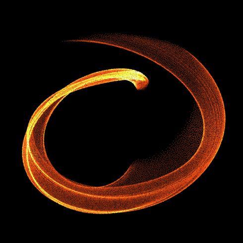 Abstracte vuurvlammen op een zwarte achtergrond. Kleurrijke vectorillustratie eps10 vector