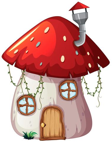 Een ontwerp van paddestoel magisch huis vector