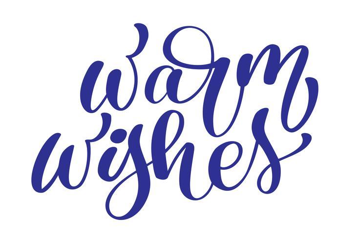 tekst Christmas Warm Wishes handgeschreven kalligrafie letters. handgemaakte vectorillustratie. Leuke penseelinkt typografie voor foto-overlays, t-shirt print, flyer, posterontwerp vector