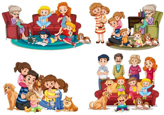 Een set familieleden vector