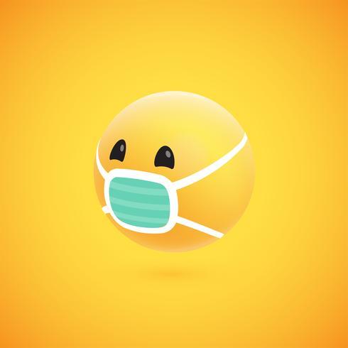 Leuke hoog-gedetailleerde gele 3D emoticon voor Web, vectorillustratie vector