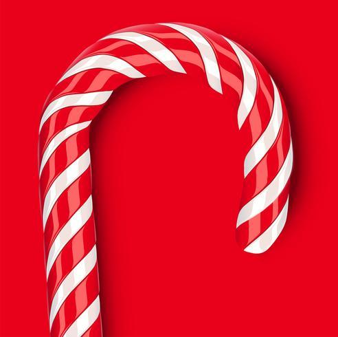 Hoog gedetailleerd rood suikergoedriet, vectorillustratie vector