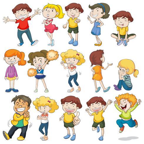 Kinderen vector