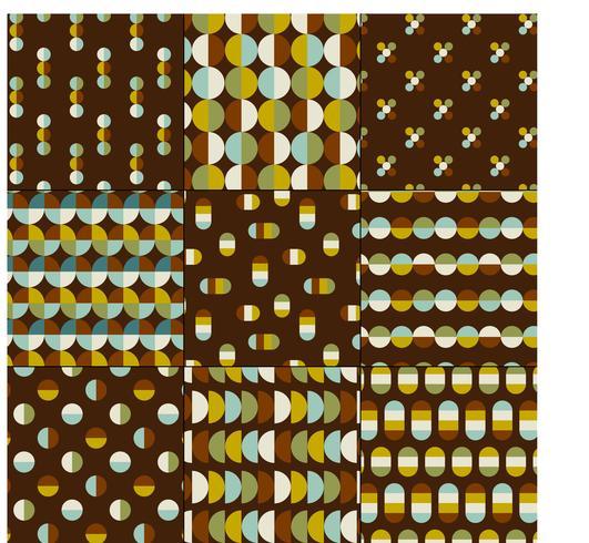 midden van de eeuw moderne geometrische patronen vector