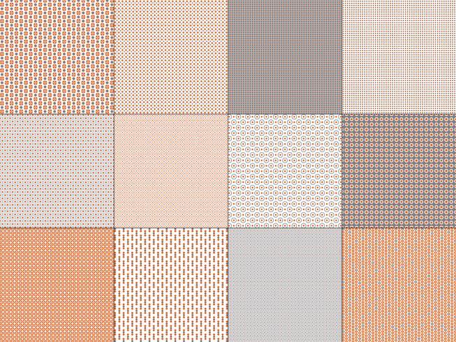 kleine oranje grijze geometrische patronen vector