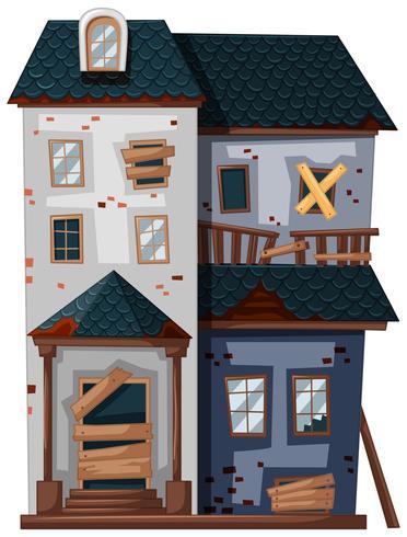 Brickhouse in slechte staat vector