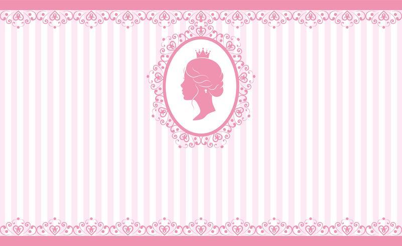 Vintage roze achtergrondontwerp vector