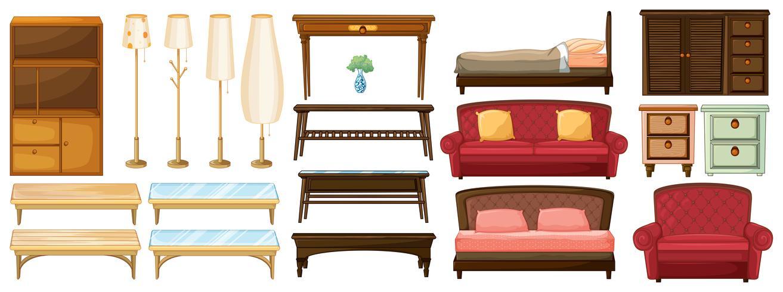 Verschillende meubels vector