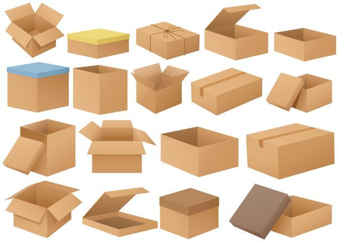 Kartonnen dozen vector