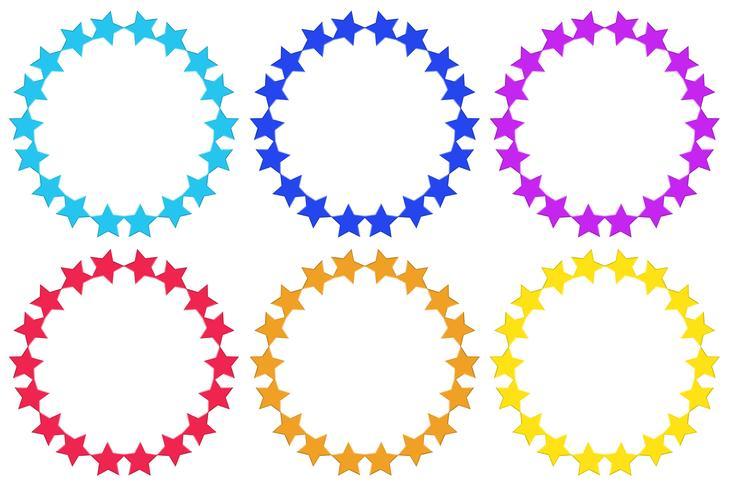 Cirkels gemaakt van sterren vector