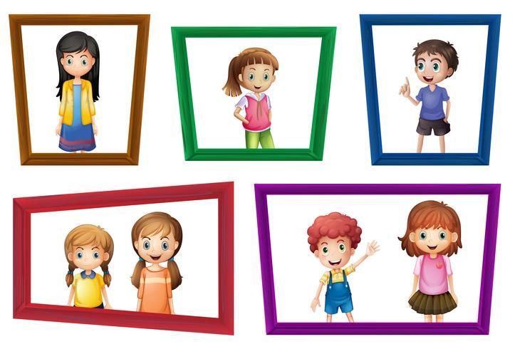 Kinderen en frames vector