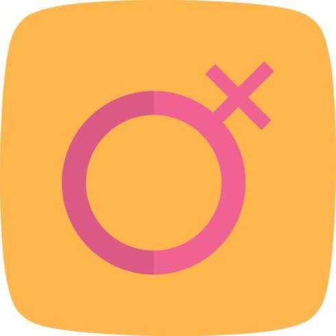 Vector vrouwelijke pictogram