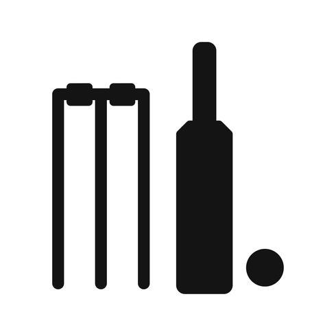 Cricket pictogram vectorillustratie vector