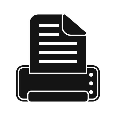 Vector Print Icoon