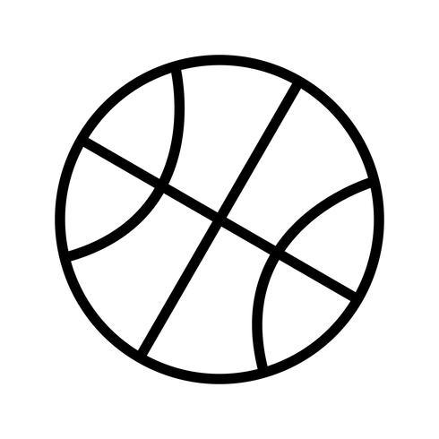 Basketbal pictogram vectorillustratie vector