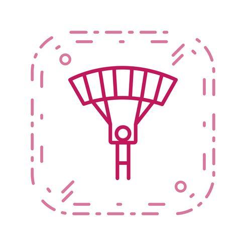 Parachutist pictogram vectorillustratie vector