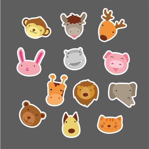 gezicht dieren karakter ontwerp vector