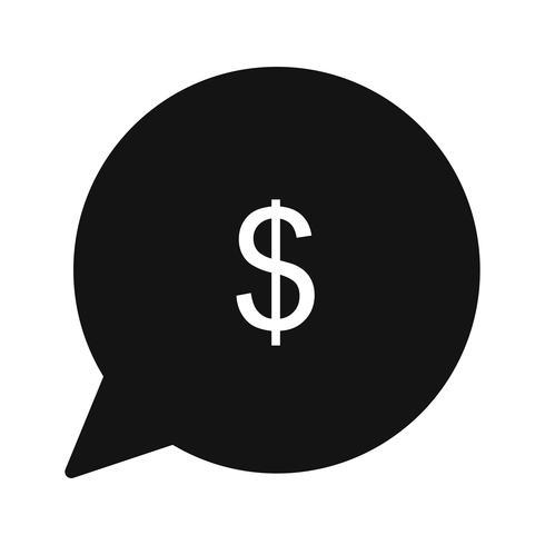 Vector geldpictogram verzenden