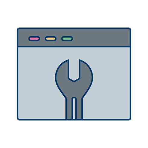 Vector browser instellingen pictogram
