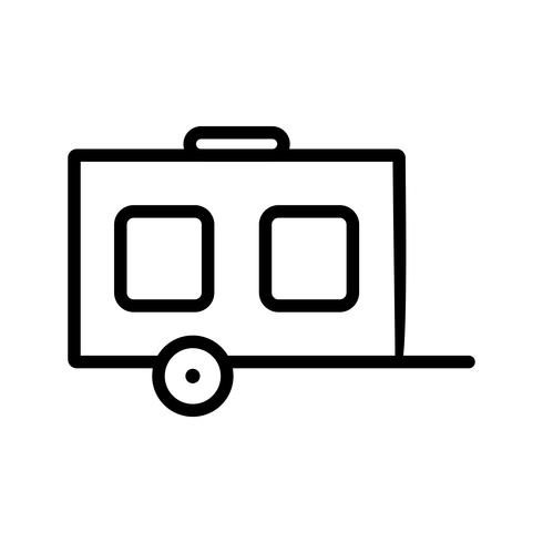 Vector wagen pictogram