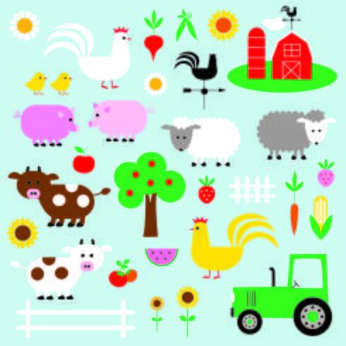 boerderij clipart vector