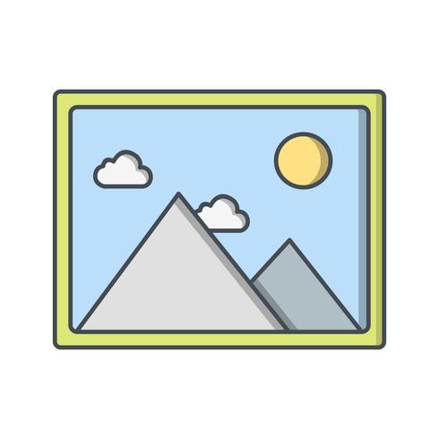 Beeldpictogram Vectorillustratie vector