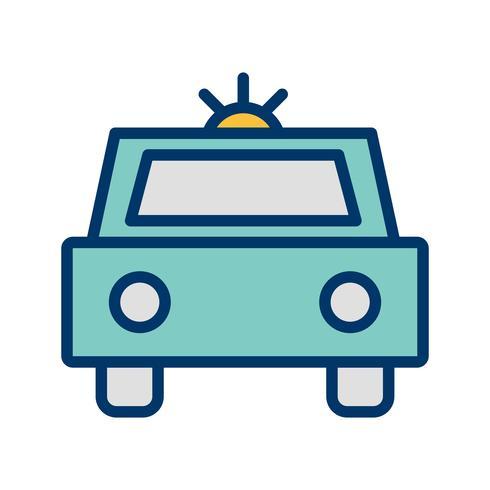 Vector politie auto pictogram