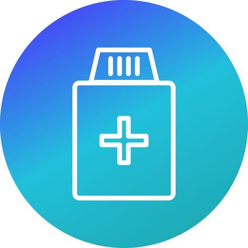 Vector geneeskunde fles pictogram