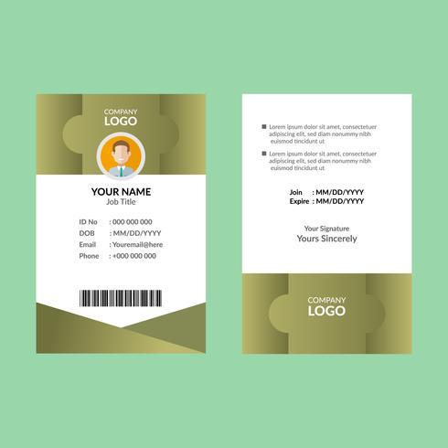 Olive ID-kaart 7 vector