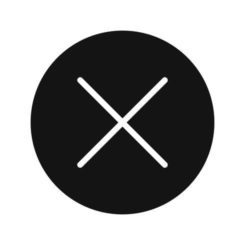 Annuleer pictogram vectorillustratie vector