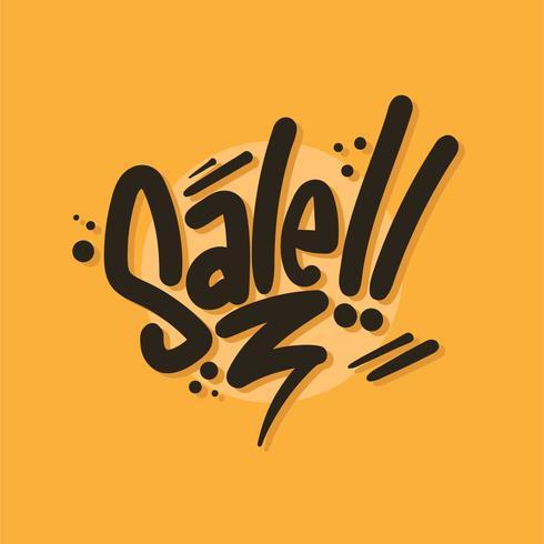 verkoop typografie vector