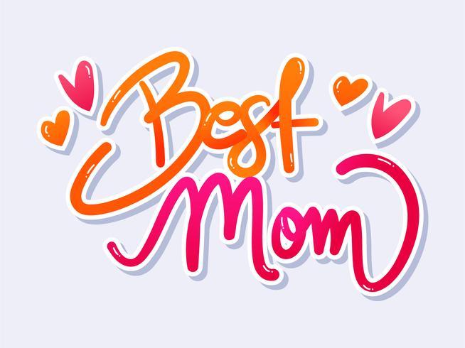 Beste moeder typografie vector