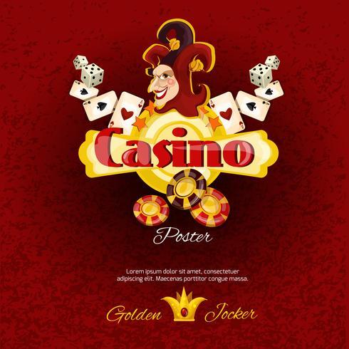illusie van de casinoaffiche vector