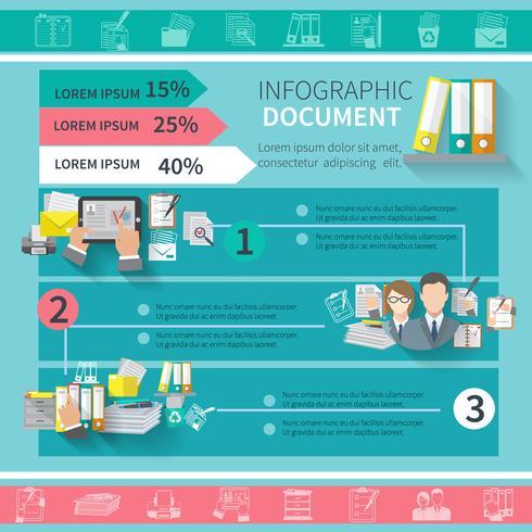 document infographics instellen vector