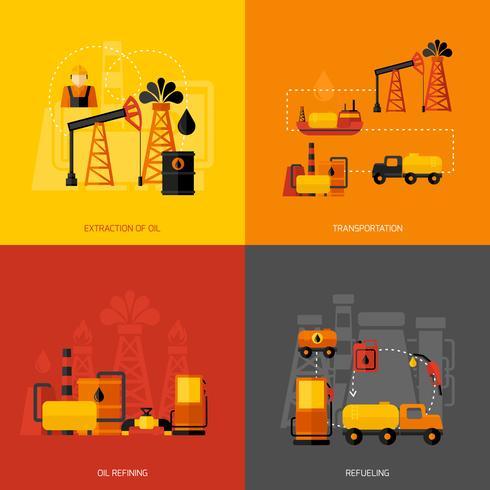 Olieindustrie vlak vector