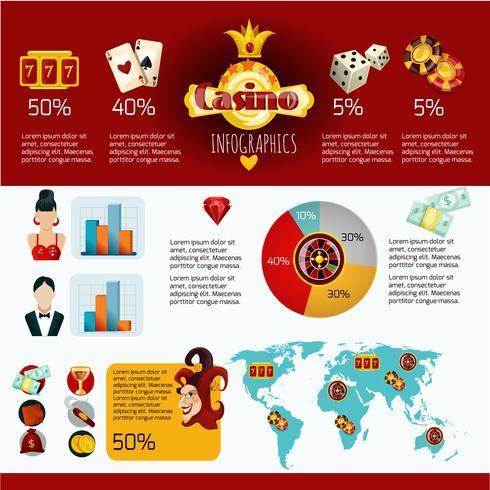 casino infographics instellen vector