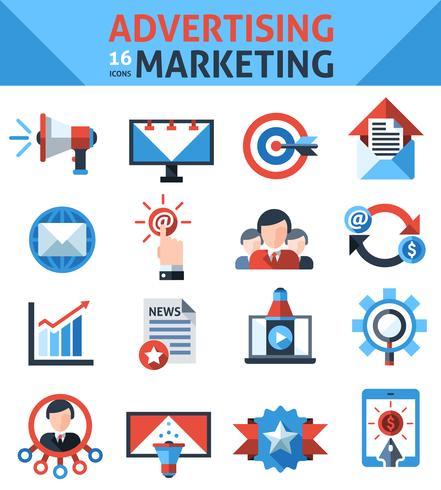 Reclame Marketing Pictogrammen vector