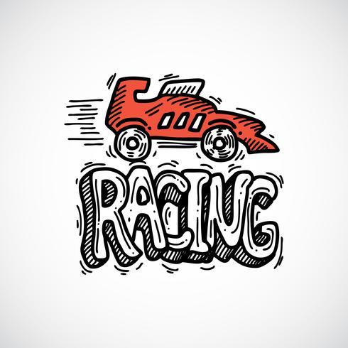 race pictogram schets vector