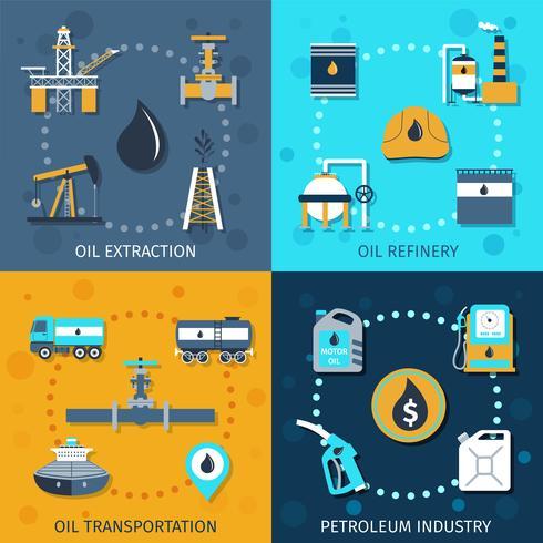 Olie-industrie set vector