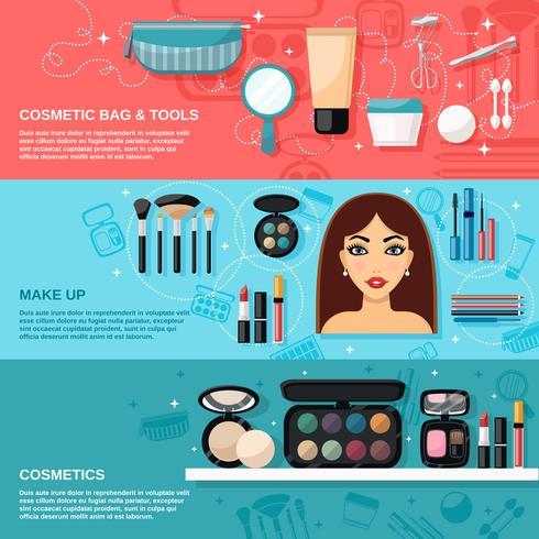 Make-upbanner instellen vector