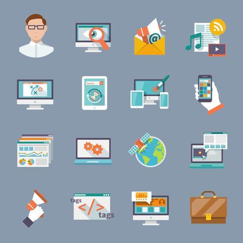 Seo internetmarketing pictogram vector