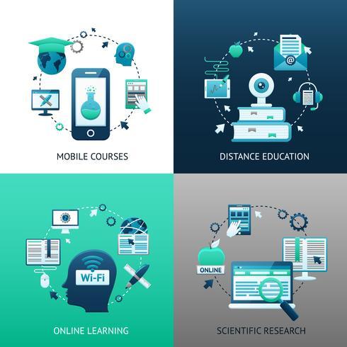 Online onderwijs ontwerpconcept vector