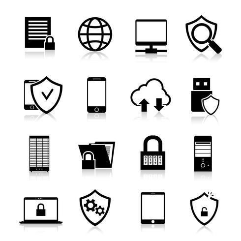 Pictogrammen voor gegevensbescherming vector