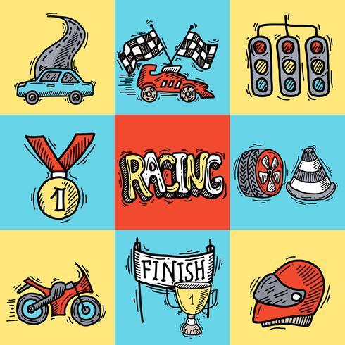 Racing ontwerpconcept vector