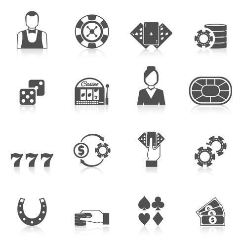 casino pictogram zwart vector