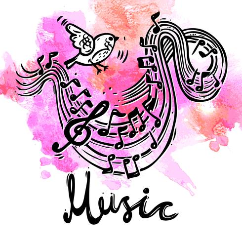 Muziek schets achtergrond vector