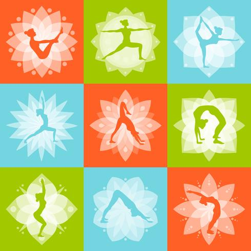 Yoga ontwerpconcept vector