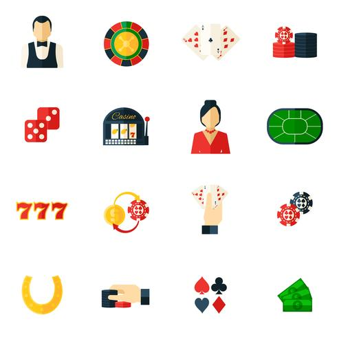 Casino pictogram plat vector