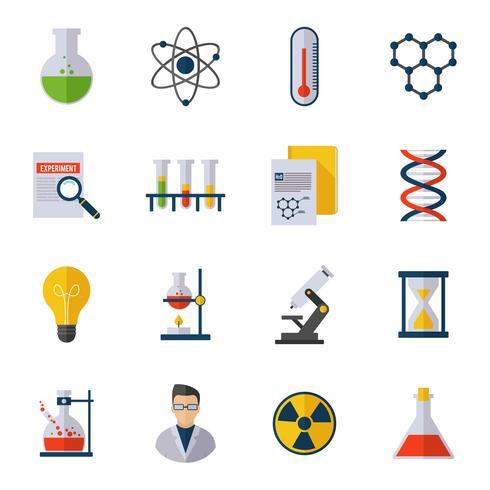 Chemie pictogram plat vector