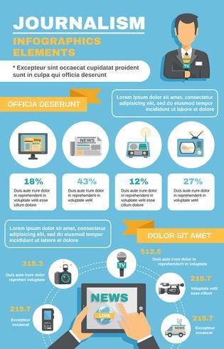 Journalist Infographic elementen vector